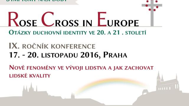 Pozvánka na konferenci Růže a kříž v Evropě, 17.-20. listopadu 2016 v Praze