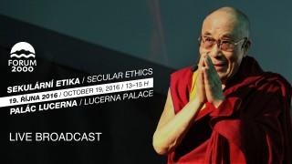 Přednáška Jeho Svatosti dalajlamy – v rámci 20. konference Forum 2000